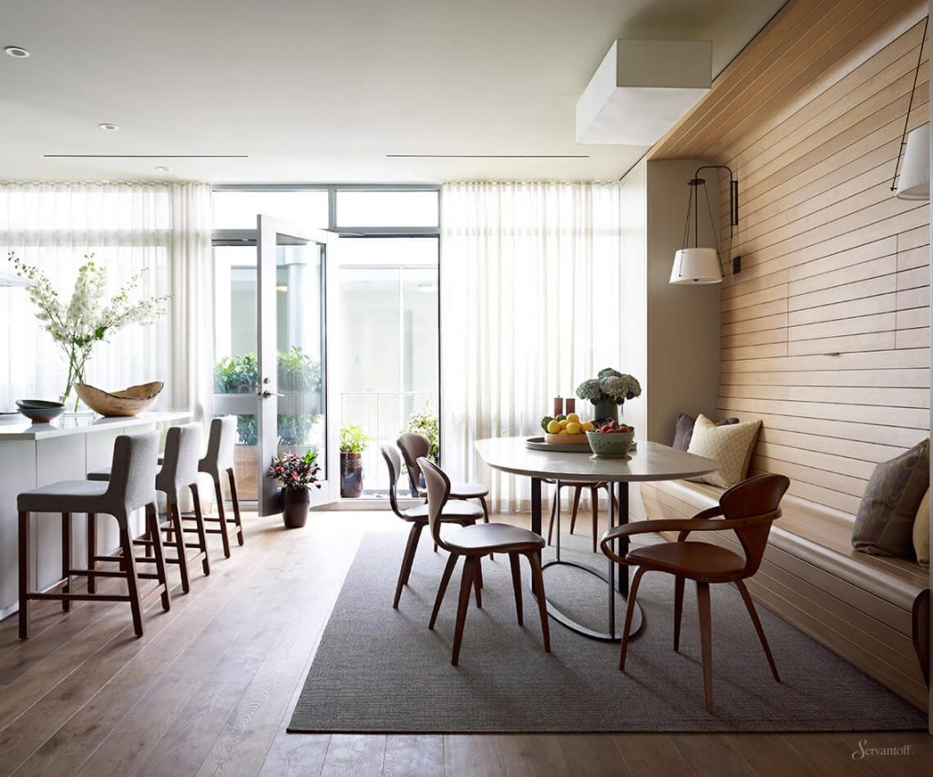 гостиная столовая в стиле лофт