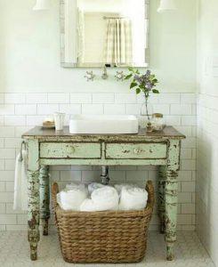 ванная шебби шик