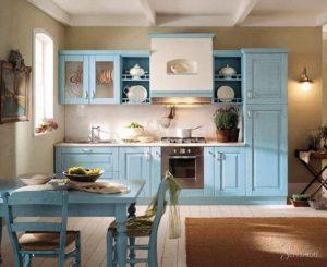 Кухонная мебель в греческом стиле