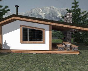 Стильная баня в стиле альпийского шале
