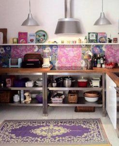 Яркая кухня в стилебохо