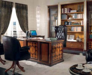 интерьер домашнего кабинета в стиле арт деко
