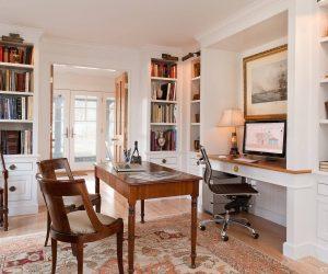 дизайн кабинета в доме классическом стиле