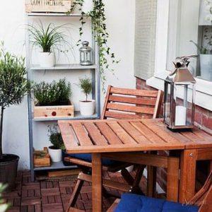кантри стиль в интерьере балкона
