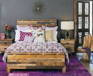 интерьер спальни бохо