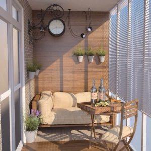 интерьер балкона кантри