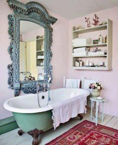 шебби шик в ванной комнате