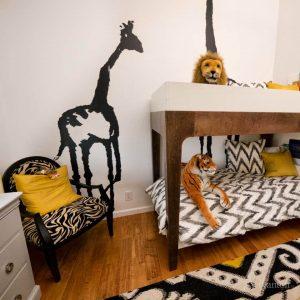 детская комната для мальчиков в африканском стиле