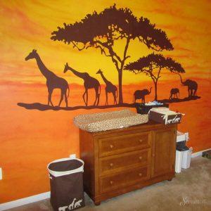 дизайн детской в африканском стиле