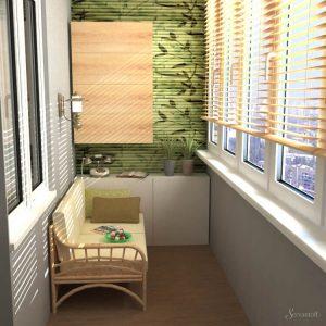 эко стиль в дизайне балкона