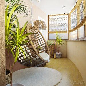 эко стиль в интерьере балкона