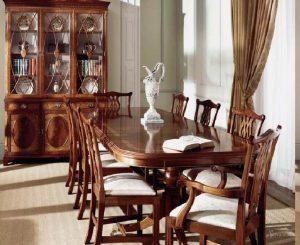 гостиная столовая в английском стиле