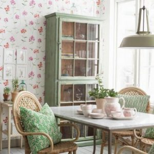 гостиная столовая в стиле прованс