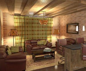 мебель в гостиную в стиле кантри