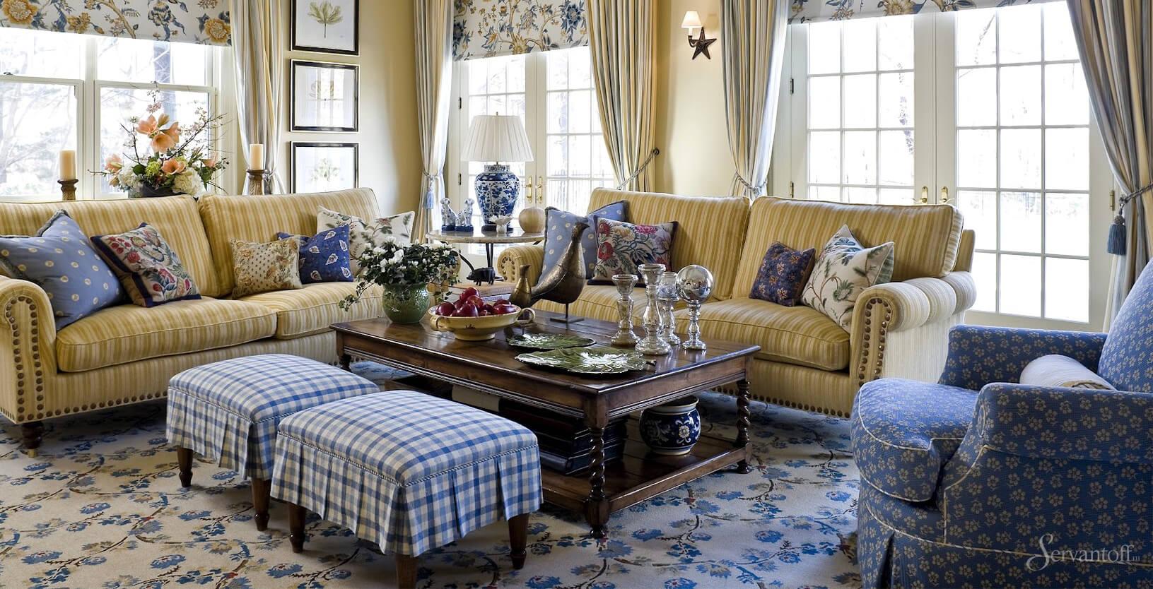мягкая мебель в стиле кантри