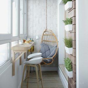 интерьер балкона в скандинавском стиле