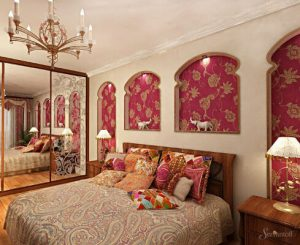 индийский интерьер спальни
