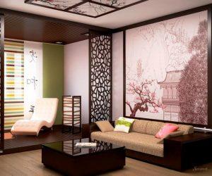 оформление гостиной в японском стиле