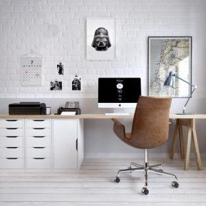 оформление рабочего места в скандинавском стиле