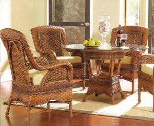плетеная мебель в средиземноморском стиле
