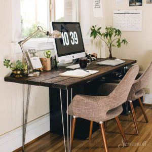 скандинавский стиль в интерьере кабинета