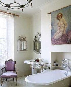 ванная комната в стиле шебби шик