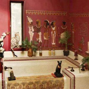 египетский стиль в ванной комнате