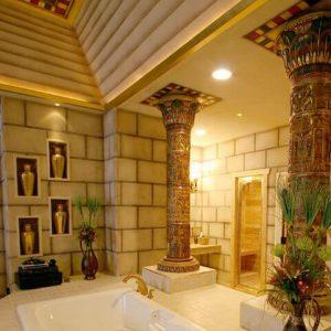 дизайн ванной комнаты в египетском стиле