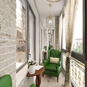 классический стиль в интерьере балкона