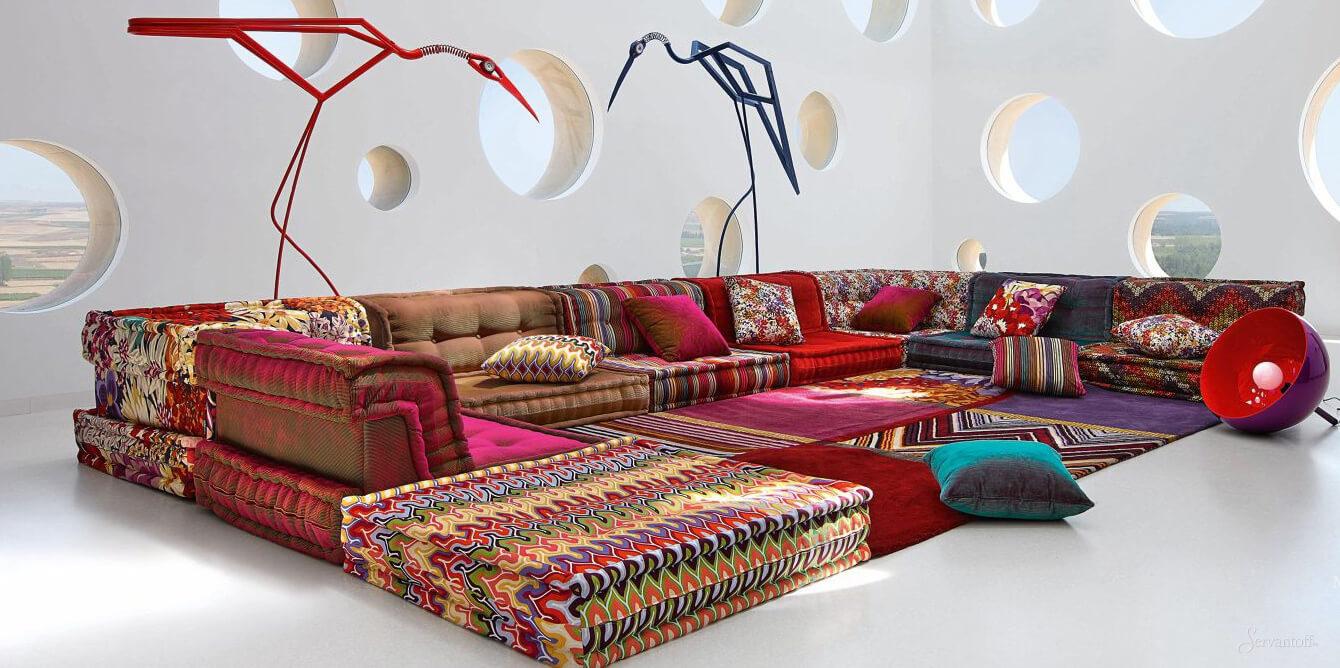 диван в восточном стиле