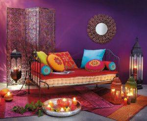 дизайн дивана в восточном стиле