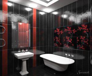 китайский стиль в интерьере ванной