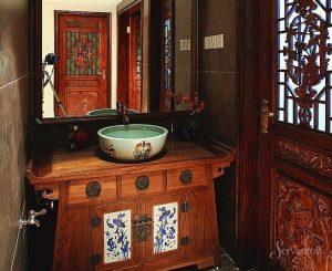 китайский стиль в ванной