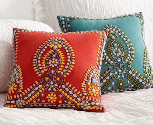 Декоративные подушки своими руками в восточном стиле 25
