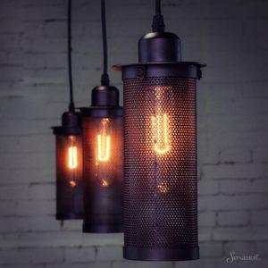 подвесные светильники в стиле лофт