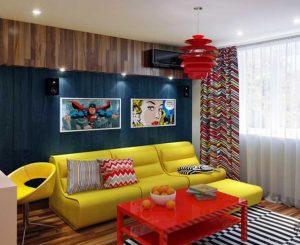 стиль поп арт в интерьере гостиной